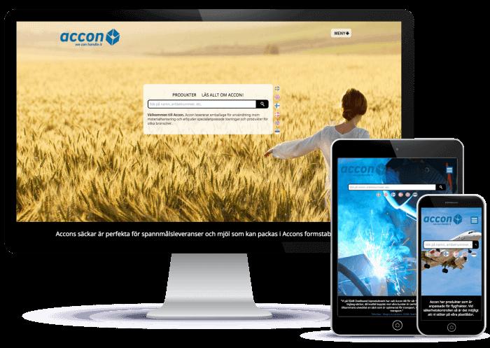 Novitell utvecklade en ny internationell webbplats på fem språk för Accon.