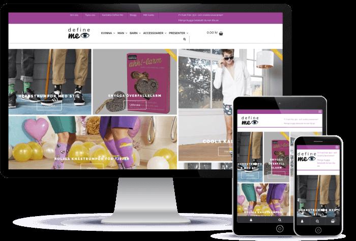 Novitell utvecklade Define Me - den populära webbutiken för designade strumpor, underkläder och accessoarer på nätet.