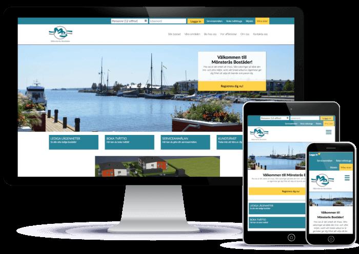 Novitell levererade en ny responsiv hemsida till Mönsterås Bostäder AB
