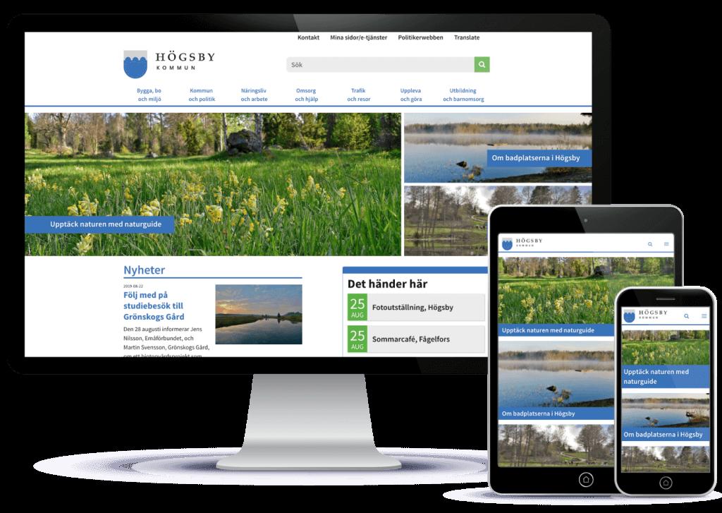 Webbyrån Novitell utvecklade en topmodern hemsida åt Högsby kommun, baserad på Symfony-ramverket, med eZ platform som CMS.