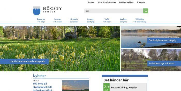 Högsby kommun gav Novitell förtroendet att utveckla kommunens nya hemsida.